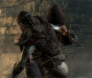 Just so we're clear, this is an assassin stabbing an undead soldier. And nothing else.